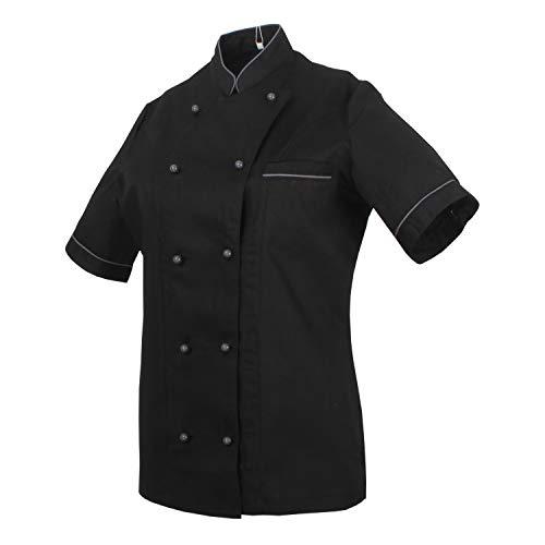 MISEMIYA - Chef Giacche Signora Maniche Corte - Ref.848B - XXXL, Nero