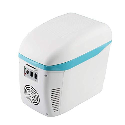 GL-7.5l Refrigerador para Auto Caja de calefacción y enfriamiento Refrigerador portátil de Doble Uso para Autos domésticos Mini congelador para Viajes de Camping - Azul/Blanco/Gris