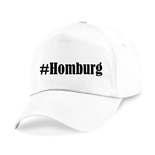 Reifen-Markt Base Cap Hashtag #Homburg Größe Uni Farbe Weiss Druck Schwarz