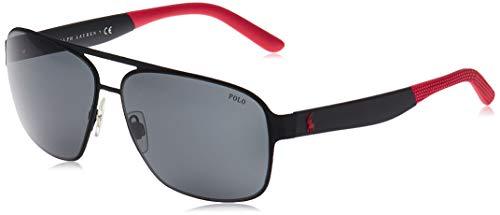 Ralph Lauren POLO 0PH3105 Gafas de sol, Rubber Black, 62 para Hombre