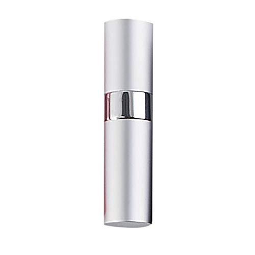 HSGei 8ML Bouteille de Parfum Spray Rotatif Portable Bouteille en Aluminium de Split Rotating télescopique Vaporisateur Bouteille Vide,Blanc
