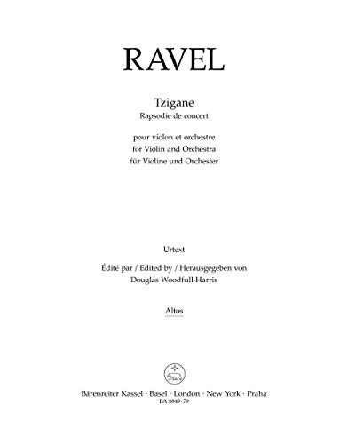 Tzigane - Violin, Piano and Orchestra - Stimme