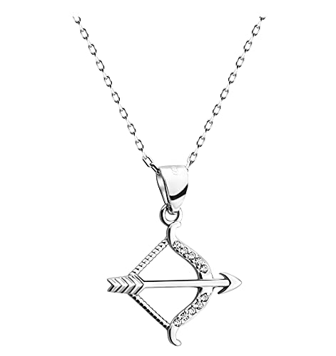 SOFIA MILANI - Collar para Mujeres en Plata de Ley 925 - con Circonita - Colgante de Curvado - 50366