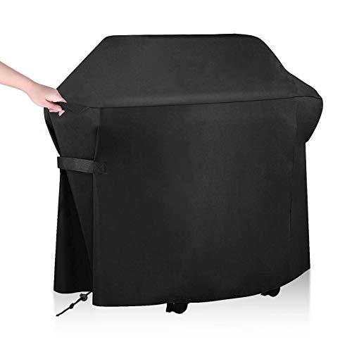 ORHFS Funda para Barbacoa Impermeable 420D Oxford Cubierta para Barbecue Peotector con Cuerda de Bloqueo de BBQ Universal A Prueba de Agua/Lluvia/Viento/UV/Mal Tiempo 147x61x117cm