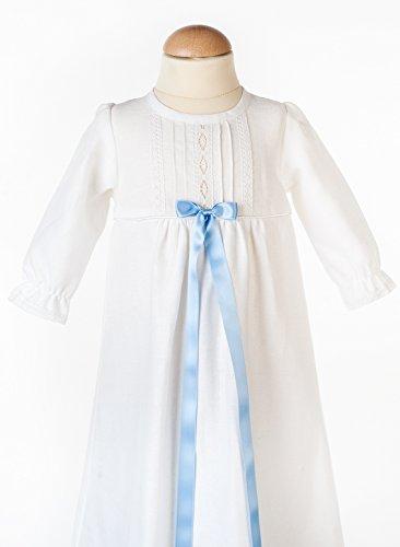 Grace of Sweden - Costume de baptême - Bébé (garçon) 0 à 24 mois blanc Blue bow 62, 3-6 months, chest 18 in.
