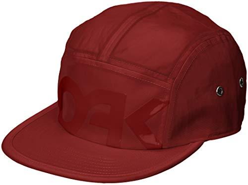 Oakley Gorra de béisbol roja 5 Panel DE Sombrero Hierro 911964-80U Mark...