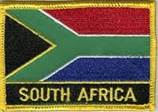 South Africa Flag Morale Patch/International Embroidered Iron On Travel Patches Collection (South African sew-on w/Words, 2