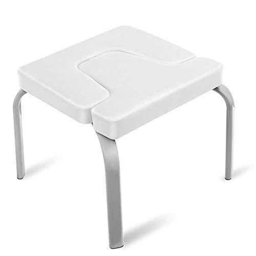 CURVEASSIST Pilates Kopfstand Bank U-förmiger Metall-Yoga-Hocker Multifunktionaler Hilfs-umgekehrter Stuhl Yoga-Fitness-Stuhl Praktische Heim-Fitnessgeräte,White-OneSize