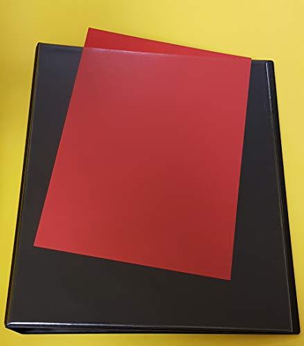 Ringbuch/Ordner aus PVC, A4+ ÜBERGRÖßE in SCHWARZ, 4-Ringe + 25 Dokumentenhüllen in Übergröße mit Klappe, Dokumentenecht