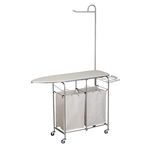 Product Image of the Honey-Can-Do Rolling Laundry Sorter with Ironing Board and Shirt Hanger