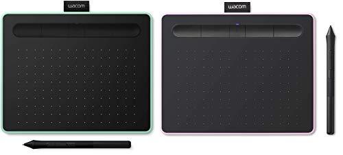 Wacom Intuos S Bluetooth Pistachio y Pink Berry (Paquete de San Valentín) - Pen Tablet, Tableta gráfica inalámbrica para Pintar, Dibujar y retocar Fotos con 5 descargas de Software