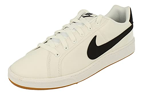 Nike Court Royale Canvas Hommes Running Trainers AA2156 Sneakers Chaussures (UK 8 US 9 EU 42.5, White Black 103)
