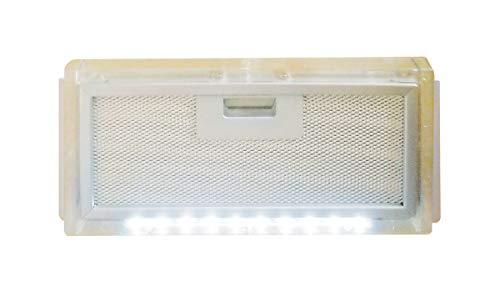 AVDISTRIBUTION Dunstabzugshaube für Wohnmobil - Lux - erhältlich in der Version mit oder ohne LED-Leuchten (Carter Filter Dunstabzugshaube mit LED-Licht)