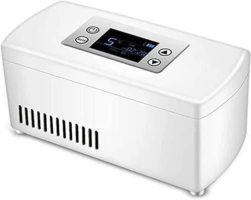 TYSJL Refrigerador de insulina portátil Caja refrigerada, Viaje, Hogar - Caso de refrigeración por automóvil portátil/Caja de Viaje pequeña para medicamentos (Size : 1 x Lithium Battery)