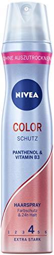 NIVEA Color Schutz Haarspray Extra Stark (250 ml), pflegendes Styling Spray mit Panthenol & Vitamin B3, Haarspray für Farbschutz & 24h Halt