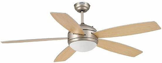 Faro VANU 33313- Ventilador de techo con luz, 5 palas reversibles ...