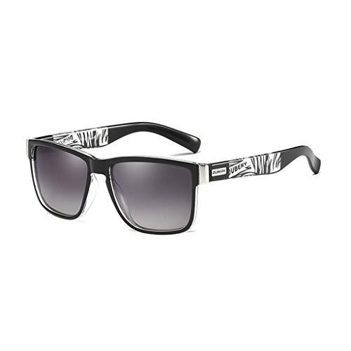 DUBERY Gafas de Sol polarizadas Deportivas for Hombre/Mujer 100% UV400 Protección HD Gafas de equitación A Prueba de Viento D518 (Color : #3)