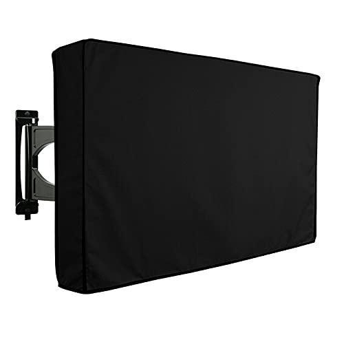 Outdoor TV Abdeckung 600D Polyestergewebe Wasserdichter UV Flachbildschirm TV Display Schutz für 50'' bis 70''LCD LED (For 60-65 inch TV)