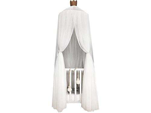 Betthimmel Baldachinfür Mädchen und JungenDeko Kinder Kinderzimmer Bett Moskitonetz weiß 60 x 240 cm aus Tüll