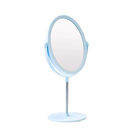 DCLINA Espejo Maquillaje para Mujer, Espejo Maquillaje Doble Cara para Mujer/Espejo tocador/Espejo Princesa, Espejo Redondo pequeño portátil Escritorio para Estudiantes Dormitorio