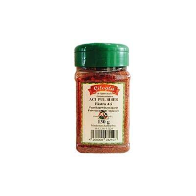 Premium Gourmet Chili Ciloglu Pul Biber Chiliflocken (extra scharfe Chilischoten, 130 Gramm Streudose)