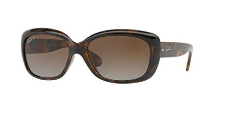 Ray-Ban RB4101 JACKIE OHH 710/T5 58M Light Havana/Brown Gradient Polarized Sunglasses