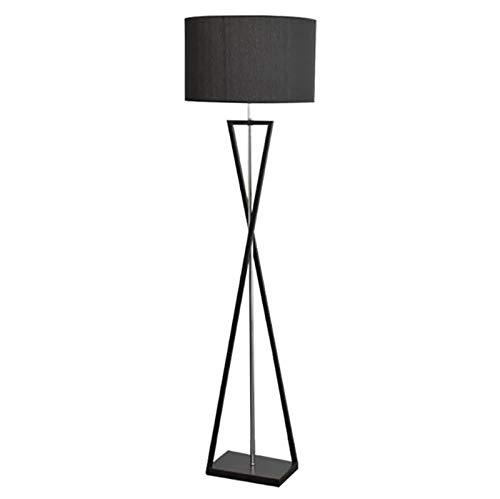 HMKJ Lámpara De Pie para Sala De Estar, Lámpara De Noche Cálida para Dormitorio De Estilo Nórdico, Lámpara De Pie para Sofá De Viento, Lámpara De Mesa Alta(Color:Negro)