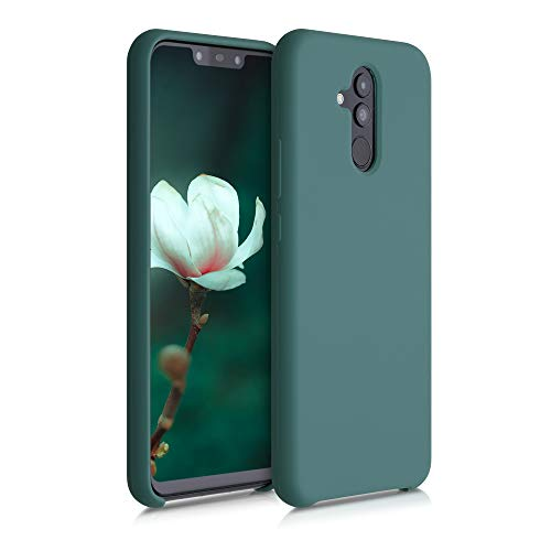 kwmobile Carcasa Compatible con Huawei Mate 20 Lite - Funda de Silicona para móvil - Cover Trasero en Azul Verdoso