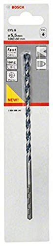 Bosch 2608588143 CYL-5 Concrete Drill Bit, 5.5mm x 100mm x 150mm, Silver
