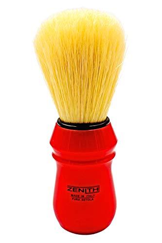 Zẹnith Pennello da Barba Modello New 80R Manico Rosso 100% Sintetico
