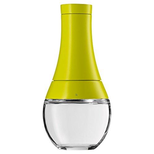 WMF Batido Gewürzmühle, unbefüllt, Kunststoff, Glas, Keramikmahlwerk, Mühle für Salz, Pfeffer, Gewürze, Chilischoten, H 17 cm, grün