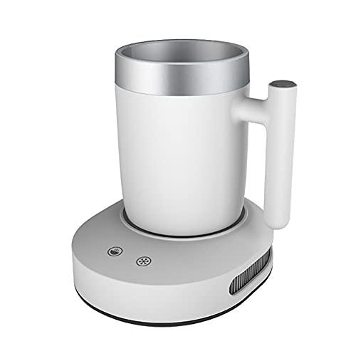 JJINPIXIU Taza de refrigeración y calefacción Taza de Bebida de Escritorio 2 en 1 Enfriador de Escritorio Taza Caliente con calefacción de refrigeración portátil para Viajes por Carretera