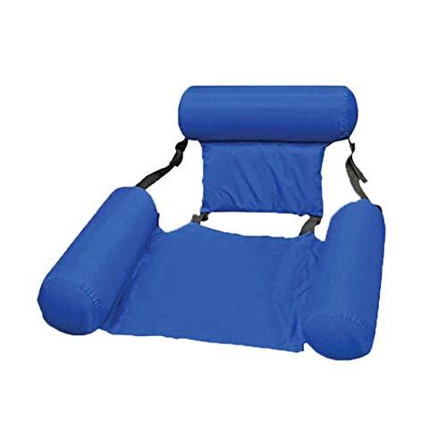Braceletlxy Sillón reclinable Flotante, Cama Plegable Inflable con flotación de Agua, sillón de salón de Atracciones, Piscina, Playa, Flotante reclinable, sofá, Hamaca, lecho Flotante