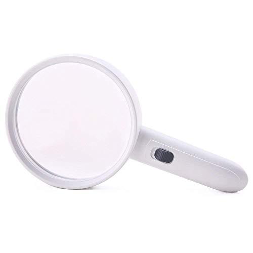 HD-vergrootglas, draagbaar, ledverlichting, uv-licht, om te lezen, voor het identificeren van sieraden, klok, voor graveren en repareren van handwerk, bian. 20X Wit