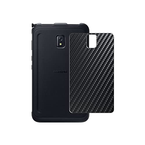 VacFun 2 Piezas Protector de pantalla Posterior, compatible con Samsung Galaxy Tab Active 3 Enterprise Edition SM-T577 8' Tablet, Negro Película de Trasera Espalda Piel (Not Funda Carcasa)