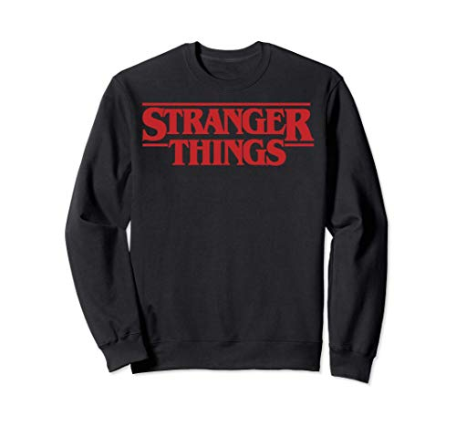Netflix Stranger Things Simple Red Logo Felpa
