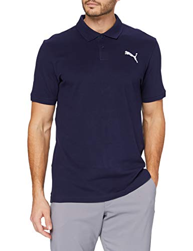 Puma Herren Essential Pique Polo_851759 Poloshirt, Peacoat_Cat, S