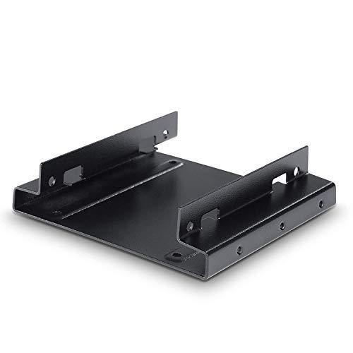 CSL - Telaio di Montaggio per HD SSD da 2,5 Pollici per Slot da 3,5 Pollici - Adattatore convertitore - Supporta Fino a Due Dischi rigidi da 2,5 Pollici SSD e Molto Altro - Nero