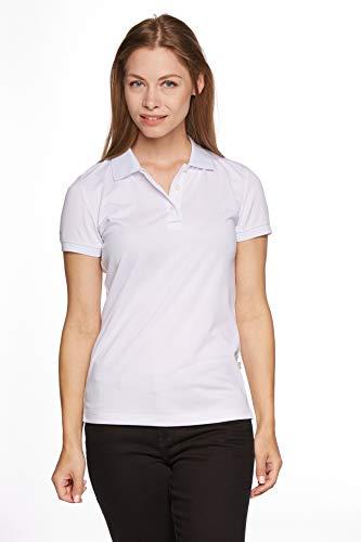 Jeff Green Damen Atmungsaktives Funktions Poloshirt Cadet, Größe - Damen:46, Farbe:White