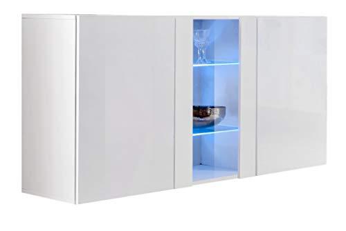 muebles bonitos – Aparador Colgante de diseño Salve en Color Blanco