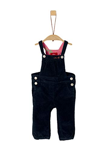 s.Oliver RED LABEL Unisex - Baby Latzhose aus Stretch-Cord navy 80.REG