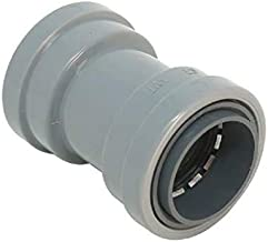 """Southwire P-CP-100 1"""" CIC Push Install PVC Coupling, Gray"""