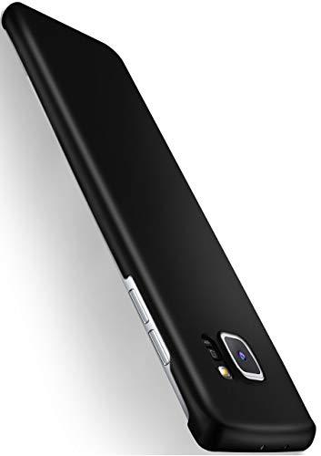 MoEx® Alpha Hülle kompatibel mit Samsung Galaxy S6 Edge Hülle Dünn | Ultra-Slim Handyhülle - Metallic Schutzhülle Handy Cover, Matt Schwarz