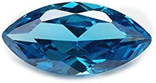 50pcs 1.5x3~10x20MM AAAAA Marquise Aquamarine Blue Loose cz Stone Cubic Zirconia Machine Cut Synthetic Gemstone (1.5x3mm 50pcs)