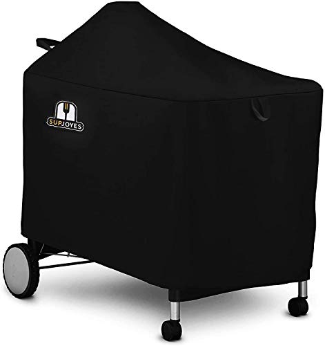 SUPJOYES Grill Cover for Weber Performer Deluxe Charcoal, Premium 22 Inch BBQ Cover for Weber Performer Charcoal Grills