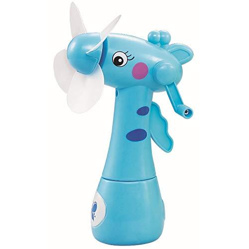 TOOGOO Faecher Karikatur Giraffen Tragbare Handheld Schreibtisch Befeuchtung Kinder Spielzeug Handheld Wasser Nebel Fan Fuer Kind Blau