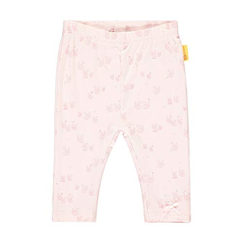 Steiff Baby-Mädchen mit süßer Teddybärapplikation Leggings, Rosa (Barely Pink 2560), 050