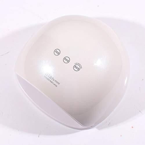ZYC Lámpara de uñas de 48 W con temporizador, doble fuente de luz, secador de uñas, lámpara de gel para manicura, sensor inteligente, lámpara UV LED, color blanco