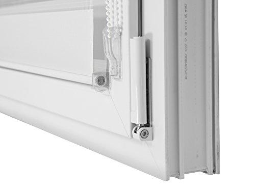 Doppelrollo in 4 Farben & in 8 Größen – mit Klemmfixierung am Fensterahmen und fest montierter Trägerschiene – kinderleichte 3-Step Montage, ca. 80 x 150 cm, weiß - 6