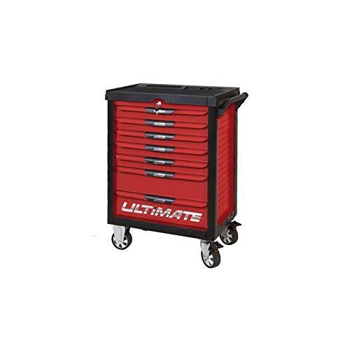 KS Tools 809.7186 Pearlline gereedschapswagen, 7 laden, met 187 gereedschappen, rood